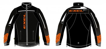 Exel Elite Softshell Jacke black - orange