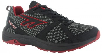 HI-TEC Haraka Trail Herren - black/red