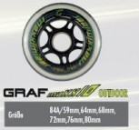 Asphalt Max 10SS Outdoor wheels - 84A - 64mm
