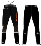 Exel Elite Softshell Pants black - orange